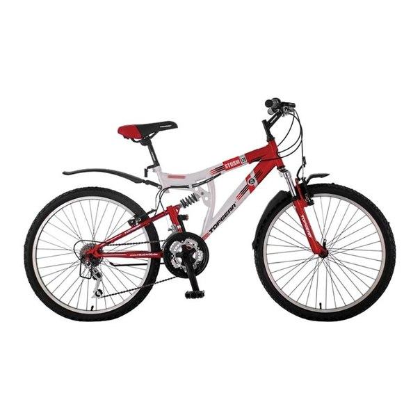 Велосипед двухколесный top gear storm 120 (вн24059) белый/красный