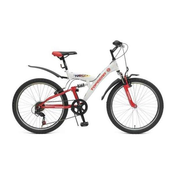 Велосипед двухколесный top gear neon 220 (вн24060) белый/красный