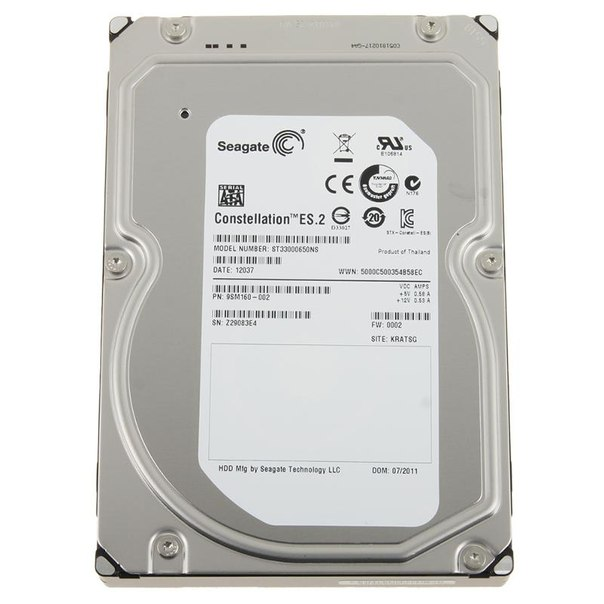 Жесткий диск hdd 3тб, seagate constellation es, st33000650ns