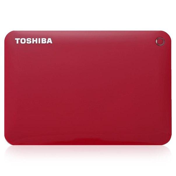 Toshiba canvio connect ii, hdtc805er3aa, 500гб, красный