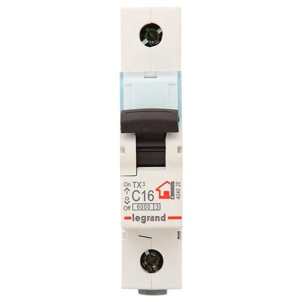 Автоматический выключатель legrand 1п c 16а tx3 6ка