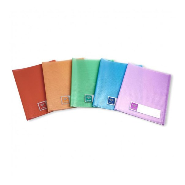 Папка файловая на 60 файлов бюрократ crystal, голубая