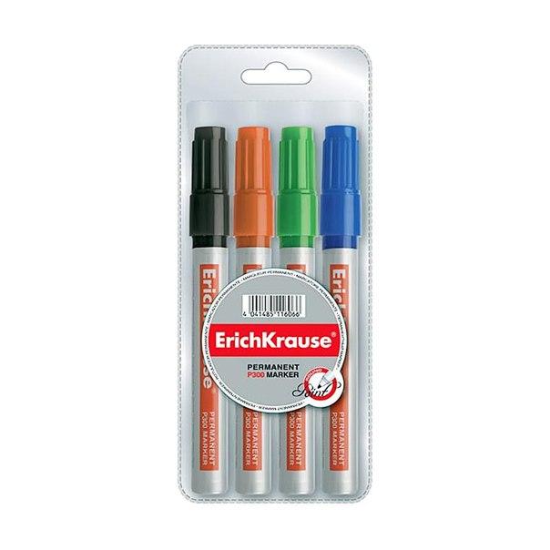 Набор маркеров перманентных erich krause, 4,6мм (4 цвета)