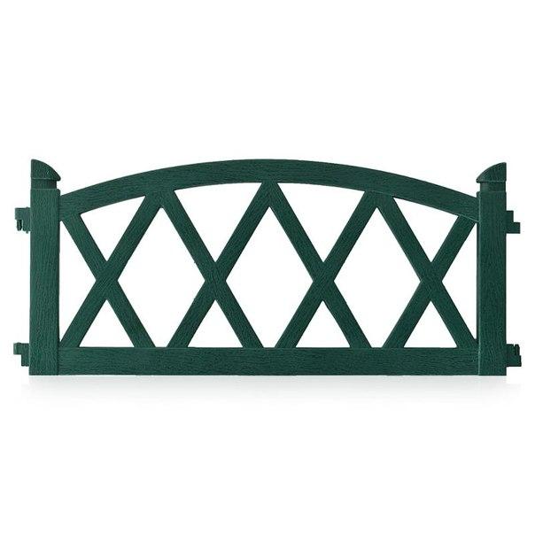 Ограждение садовое арка 2,4м, цвет зеленый