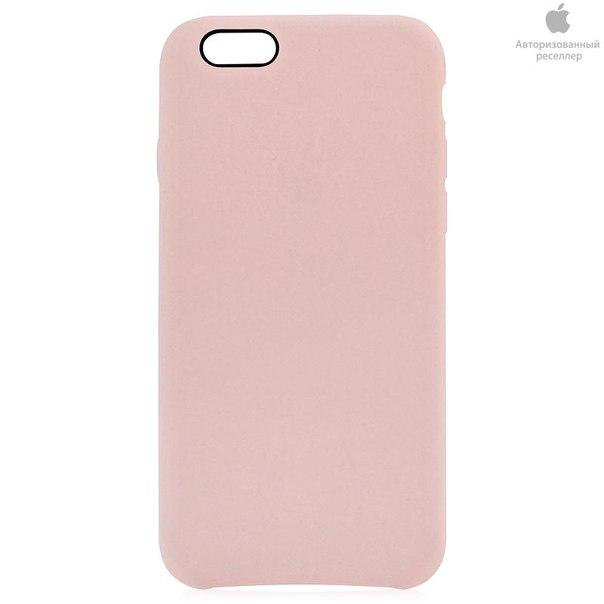 Чехол-крышка apple leather case mgr52zm/a для iphone 6 soft pink, розовый