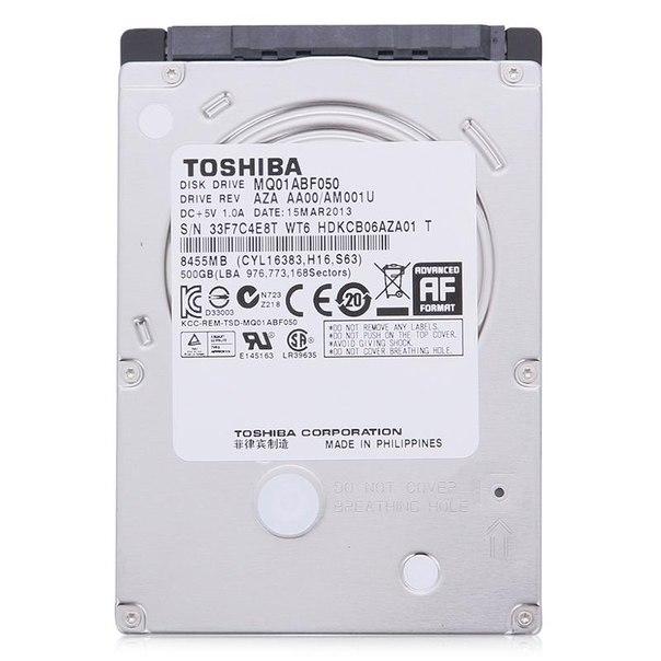 Жесткий диск hdd 500гб, toshiba, mq01abf050