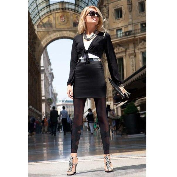 Легинсы oroblu alexandra leggings pnc, black (черный), l/xl