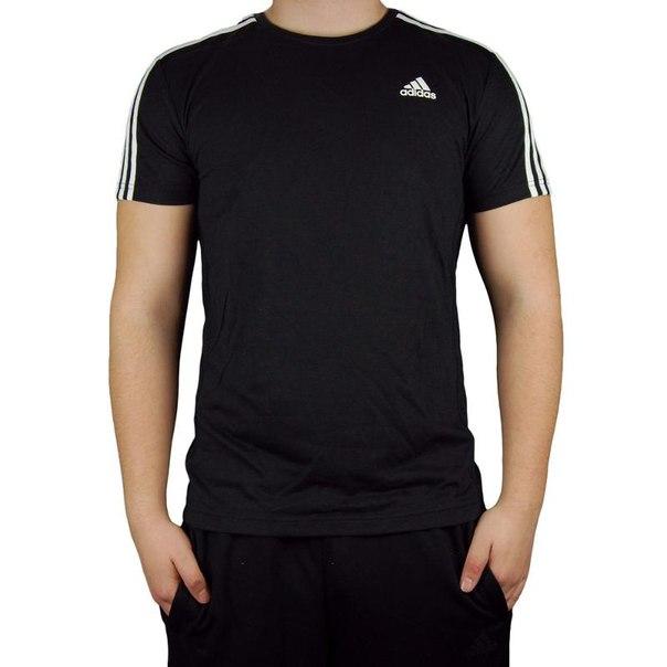Футболка adidas ess 3s tee s88108, мужская, черная