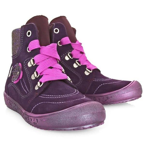 Ботинки для девочек richter 13224257501, размер 28, цвет фиолетовый