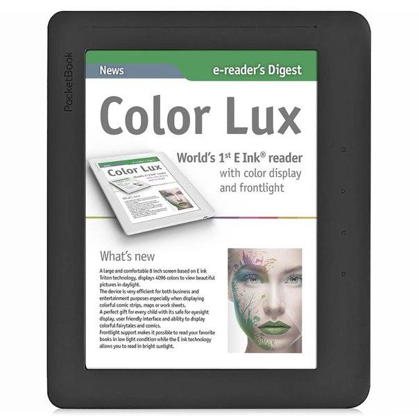 "Электронная книга pocketbook 801 colorlux 8"", black/grey"