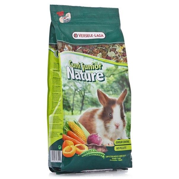 Корм versele-laga premium для молодых карликовых кроликов, cuni junior nature, 750 г