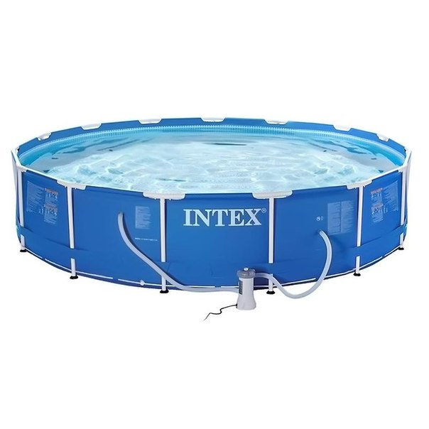 Бассейн каркасный intex metal frame 28234 457х107см