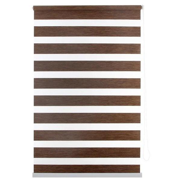Штора рулонная уют канзас 8922 день/ночь, 80x175 см, цвет коричневый