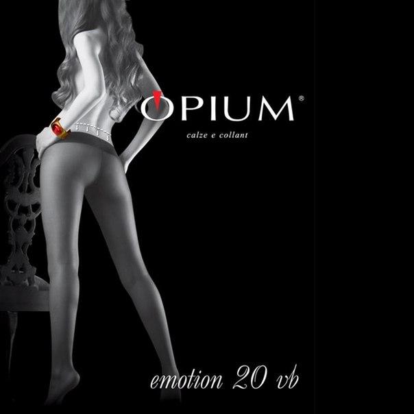 Колготки opium emotoin, 20 den, vita bassa, nero, 4