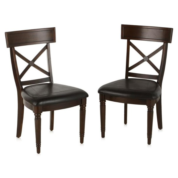 Комплект стульев обеденных tetchair 550x600x960(н), 2 шт, цвет темно коричневый