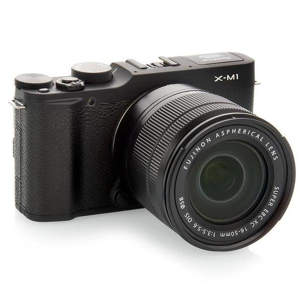 Цифровой фотоаппарат fujifilm x-m1 kit 16-50mm black