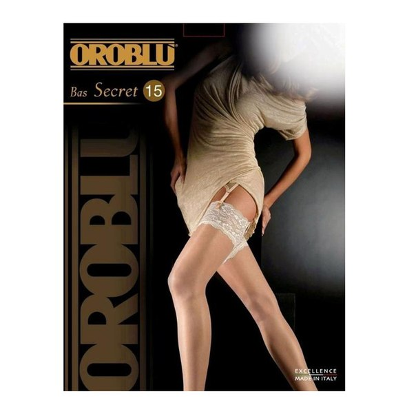 Чулки женские oroblu secret bas, 15 den, black (черный), 2-m