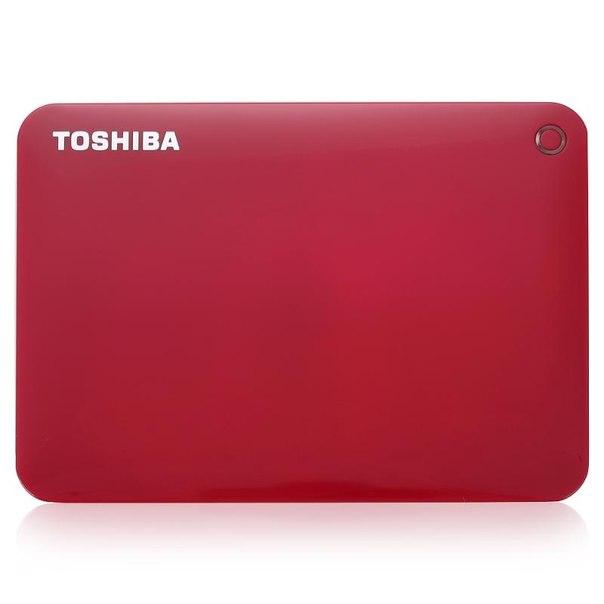 Toshiba canvio connect ii, hdtc820er3ca, 2тб, красный