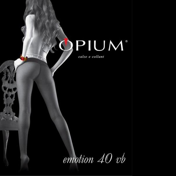 Колготки opium emotoin, 40 den, vita bassa, nero, 4