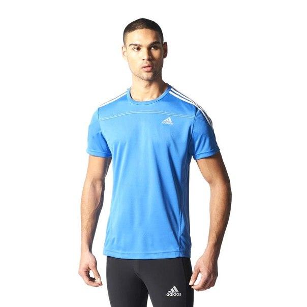 Футболка adidas rsp ss t m s14719, мужская, синяя