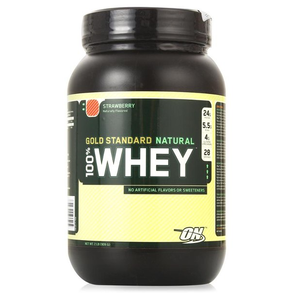 Протеин optimum nutrition 100% whey gold standard natural (клубника) 909 г