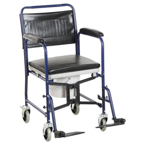 Кресло-коляска для инвалидов армед h 009b, с санитарным оснащением