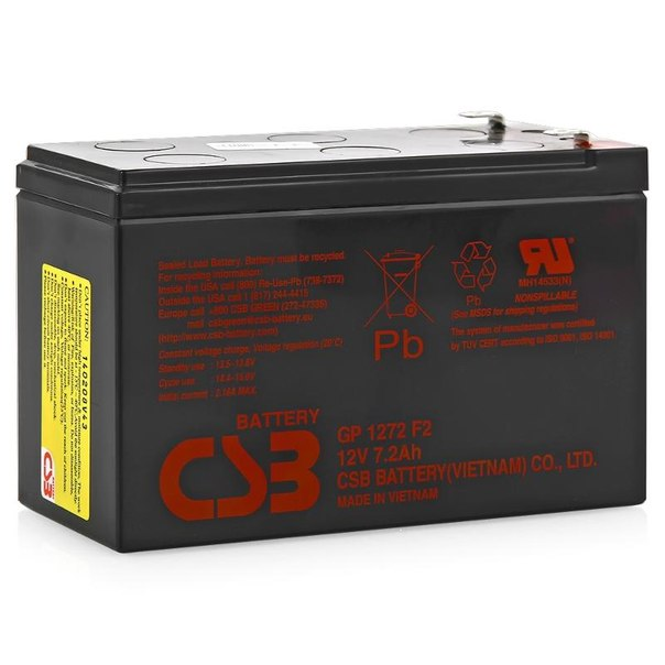 Батарея аккумуляторная csb gp 1272 f2