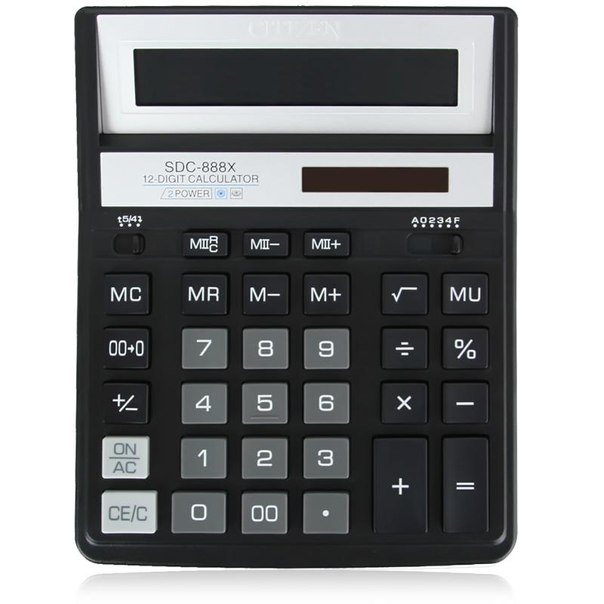 Калькулятор citizen sdc 888 xbk
