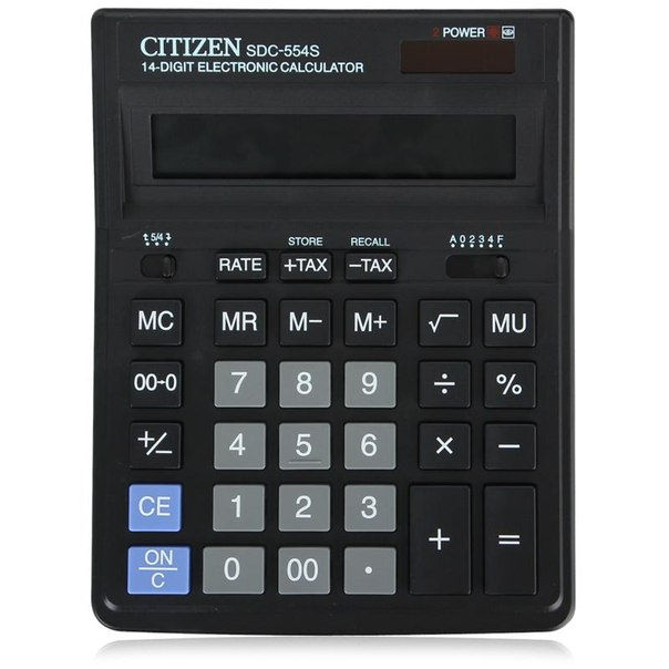 Калькулятор citizen sdc 554 s