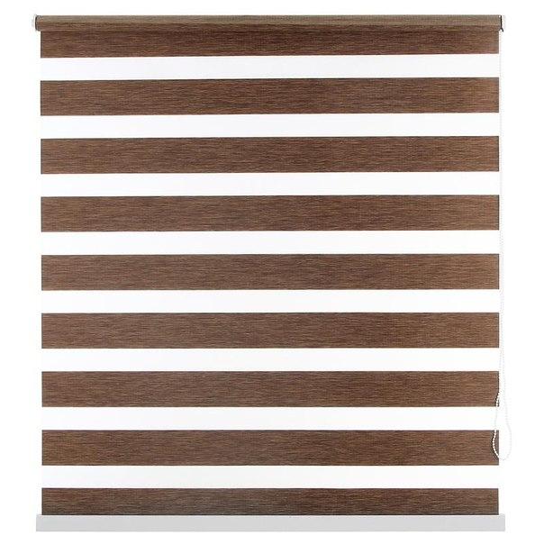 Штора рулонная уют канзас 8922 день/ночь, 100x160 см, цвет коричневый