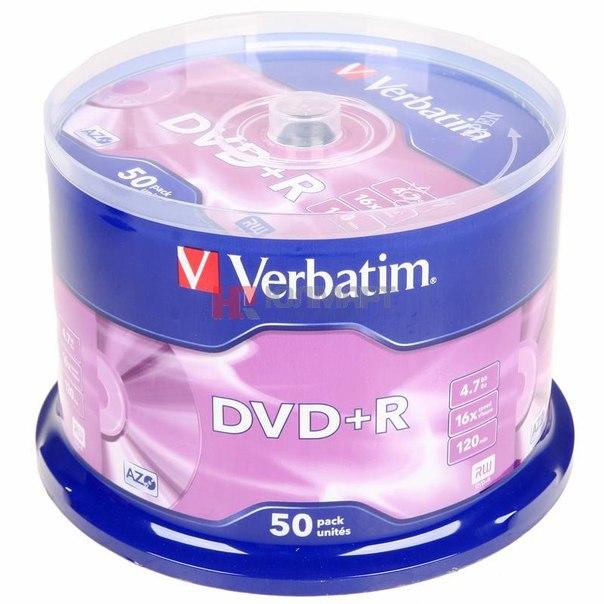 Диски dvd+r 4.7gb 16x verbatim