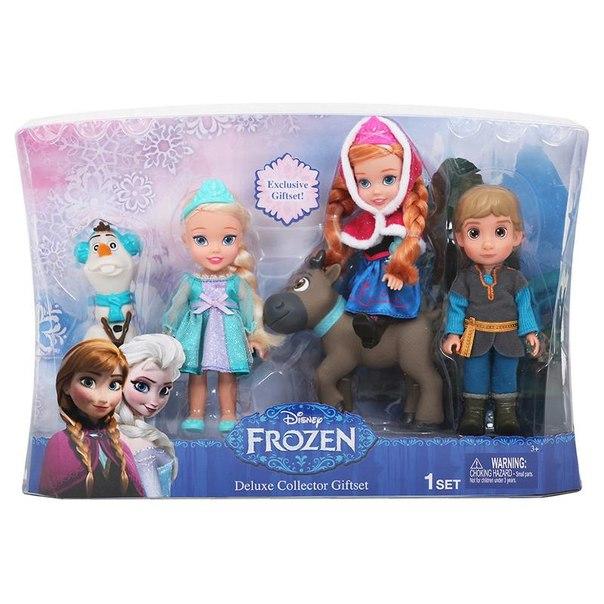 Набор кукол принцессы дисней 5 героев (холодное сердце) 15 см