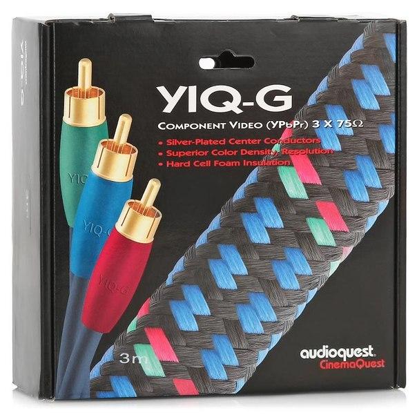 Кабель межблочный видео audioquest yiq-g 3rca - 3rca, 3м