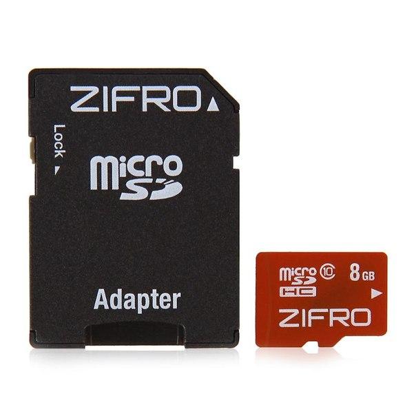 Карта памяти transflash 8gb microsdhc class 10 zifro, адаптер