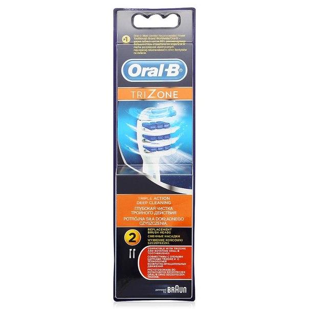Сменные насадки для электрических зубных щеток oral-b trizone, 2 шт