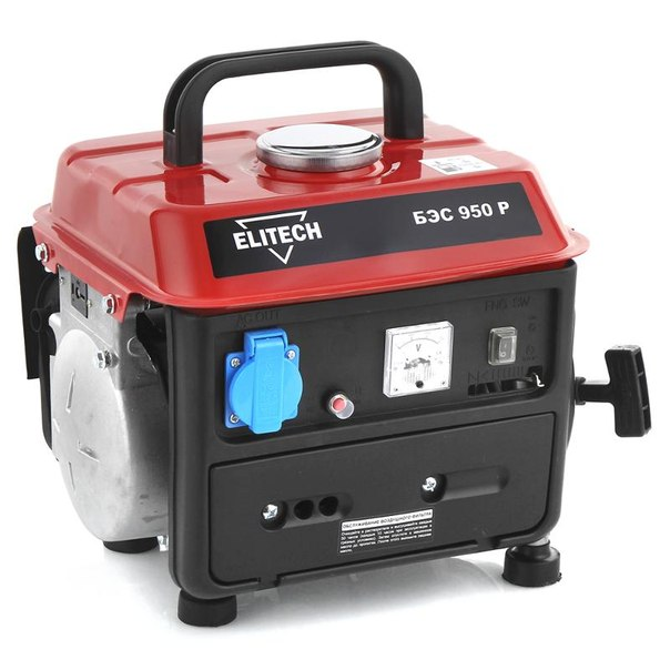 Электрогенератор elitech бэс 950 р