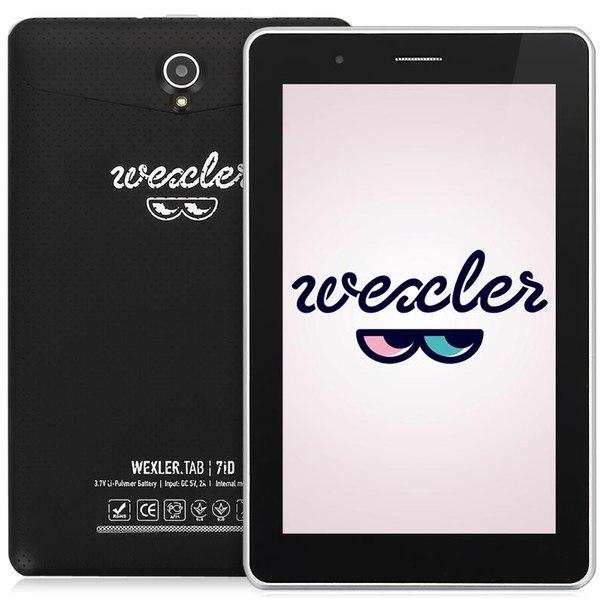 "Планшет wexler.tab 7id 8gb + 3g, 7"" ips 1024x600, dual core, black, черный"