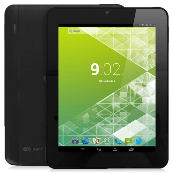 Планшет 3q q-pad lc0804b 3g 4gb black