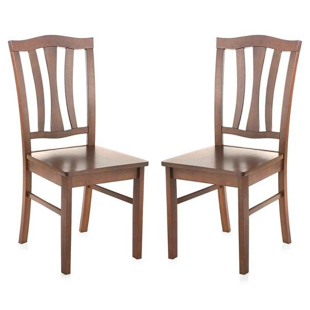 Комплект стульев обеденных tetchair 520x420x940(н), 2 шт, цвет темный дуб