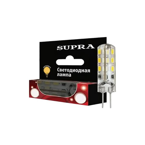 Лампа светодиодная supra sl-led-220v-2w/2700/g4