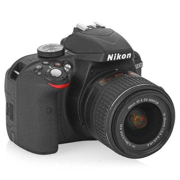 Зеркальный фотоаппарат nikon d3300 kit af-s dx 18-55mm vr ii black