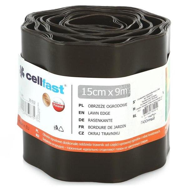 Ограждение для клумбы cellfast 15см х 9м, цвет коричневый