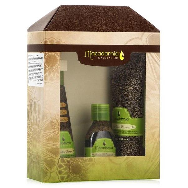 Набор для волос macadamia natural oil summer box