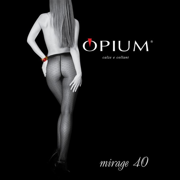 Колготки opium mirage, 40 den, nero, 4
