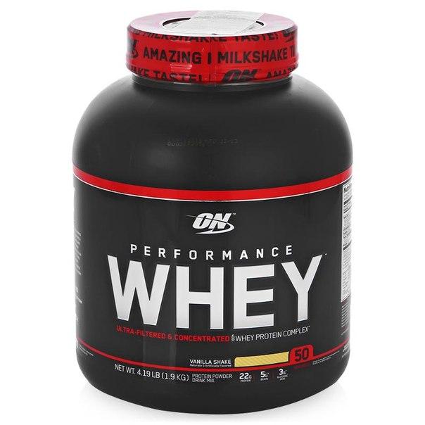 Протеин optimum nutrition whey performance (ваниль) 1900 г