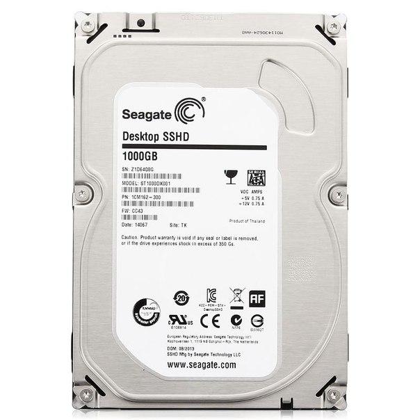 Жесткий диск hdd 1тб, ssd 8гб, seagate desktop sshd, st1000dx001