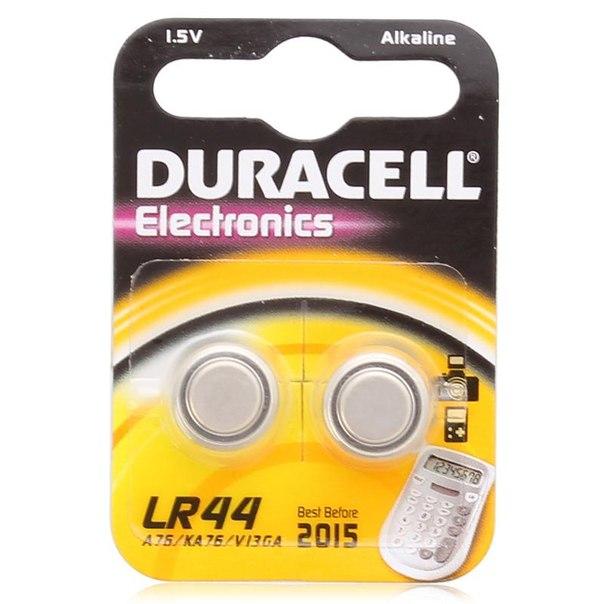 Батарейки lr44 2шт. duracell щелочные