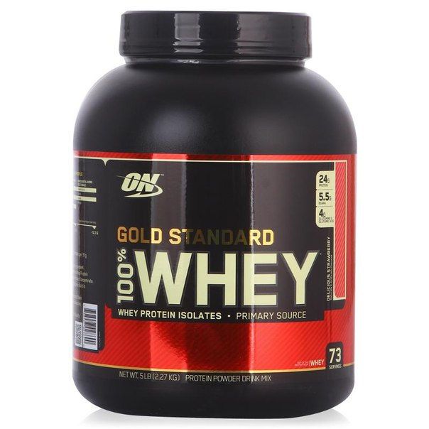 Протеин optimum nutrition 100% whey gold standard (клубника) 2270 г
