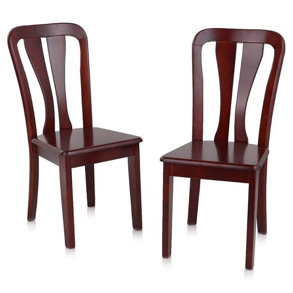 Комплект стульев жестких, 2 шт, 2512 dc, цвет темная вишня, AFOX