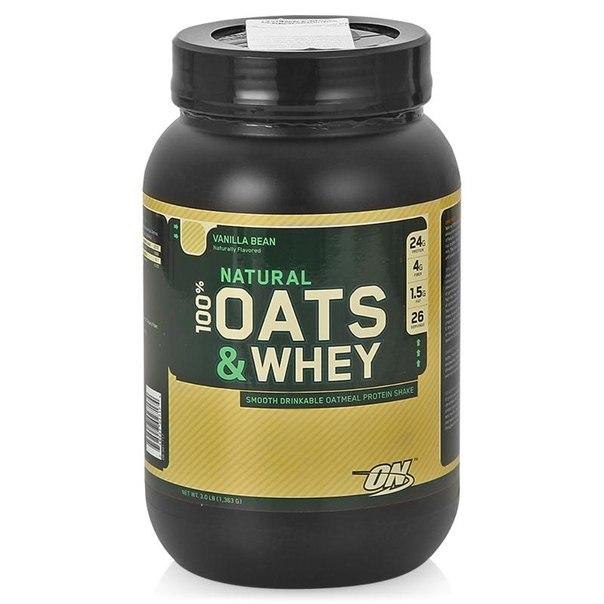 Протеин optimum nutrition 100% natural oats & whey (ваниль) 1363 г
